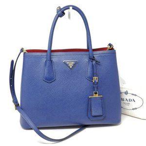 Prada Double Cuir Saffiano Medium Crossbody Bag